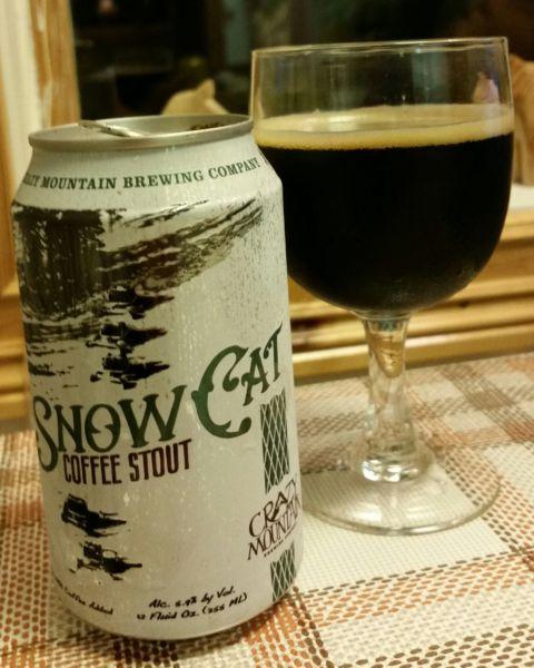 Snow Cat Kaffe stout från West Mountain Brewing Company
