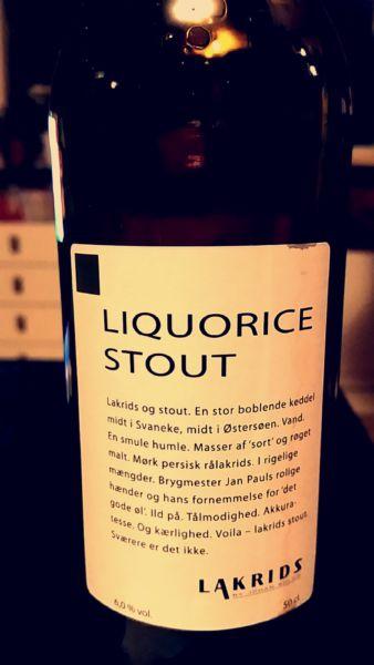 Liquorice Stout