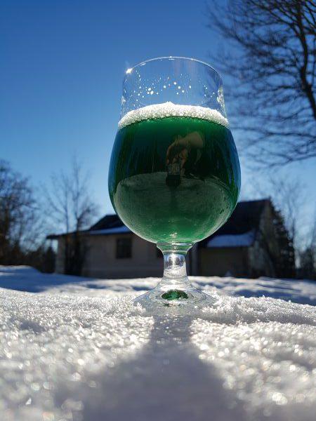 Grön öl till St Patrick's Day